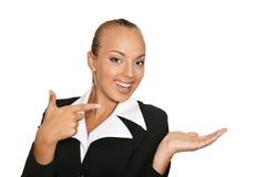 美丽的女商人 免版税库存图片