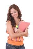 美丽的女学生年轻人 免版税图库摄影