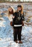 美丽的女孩二个年轻人 库存图片