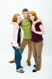 美丽的女孩人二年轻人 免版税图库摄影