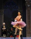 美丽的女孩克拉拉这芭蕾胡桃钳 图库摄影