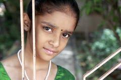 美丽的女孩印第安少年 免版税库存图片