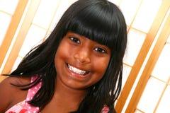 美丽的女孩印第安年轻人 库存图片
