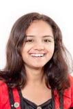 美丽的女孩印第安微笑 免版税库存图片
