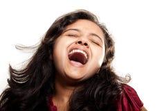 美丽的女孩印第安快乐 免版税库存照片