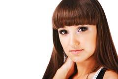美丽的女孩可爱的年轻人 免版税库存图片