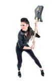 美丽的女孩吉他年轻人 免版税库存图片