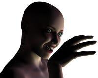 美丽的女孩吸血鬼年轻人 库存照片