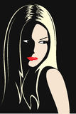 美丽的女孩图象系列年轻人 免版税图库摄影