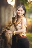 美丽的女孩在Apsara 库存图片
