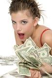 美丽的女孩富有的一点 免版税库存图片