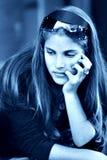 美丽的女孩少年 图库摄影