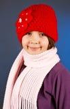 美丽的女孩少许成套装备冬天 免版税库存照片