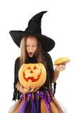 美丽的女孩巫婆 免版税库存图片