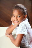 美丽的女孩愉快的纵向学校微笑 库存照片