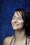 美丽的女孩水 免版税图库摄影