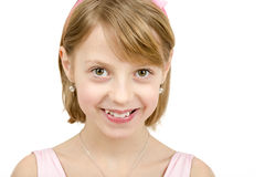 年轻美丽的女孩演播室画象  免版税图库摄影