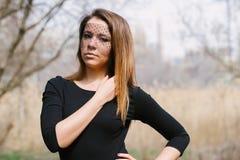 美丽的女孩用不同的姿势 免版税库存照片