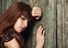 美丽的女孩红发肉欲 图库摄影