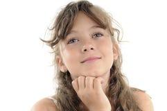 美丽的女孩纵向学校 库存照片