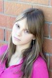 美丽的女孩纵向少年年轻人 免版税库存图片