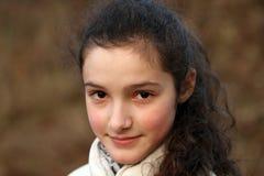 美丽的女孩纵向少年年轻人 图库摄影