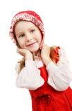 美丽的女孩纵向年轻人 免版税库存照片