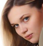 美丽的女孩纵向年轻人 库存照片