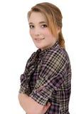 美丽的女孩纵向年轻人 图库摄影