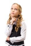 美丽的女孩纵向年轻人 库存图片