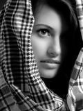 美丽的女孩纵向 免版税库存照片