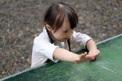 美丽的女孩纵向 库存图片