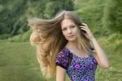 美丽的女孩纵向 免版税图库摄影