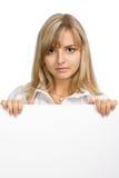 美丽的女孩纸张纯页 免版税库存图片