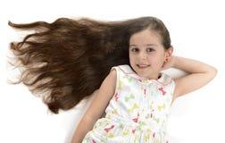 美丽的女孩美丽的头发 免版税库存照片