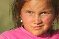 美丽的女孩贫寒 图库摄影