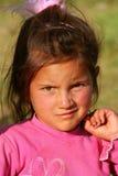 美丽的女孩贫寒 库存照片