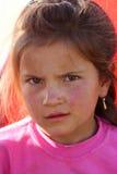 美丽的女孩贫寒 库存图片