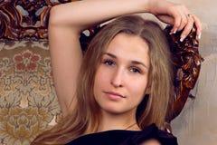 美丽的女孩金发碧眼的女人 库存图片