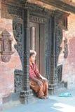 美丽的女孩年轻人 尼泊尔 免版税库存照片