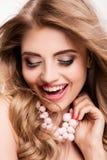 美丽的女孩画象魅力构成的 免版税库存照片