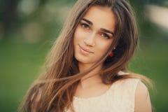 年轻美丽的女孩画象 图库摄影