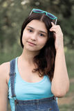 美丽的女孩画象15年 免版税库存照片