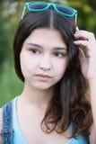 美丽的女孩画象15年 库存图片