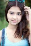 美丽的女孩画象15年 免版税库存图片