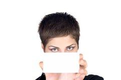 美丽的女实业家年轻人 免版税库存照片