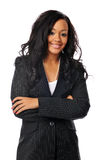美丽的女实业家年轻人 免版税库存图片