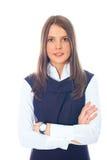 美丽的女实业家欧洲年轻人 免版税库存图片