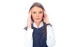 美丽的女实业家欧洲年轻人 免版税库存照片