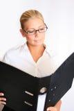 美丽的女实业家 免版税库存照片
